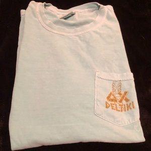 "Delta Chi Alabama ""Deltiki"" Teal Party T-Shirt"